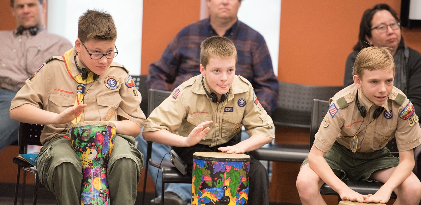 boy scout badge day   musical instrument museum