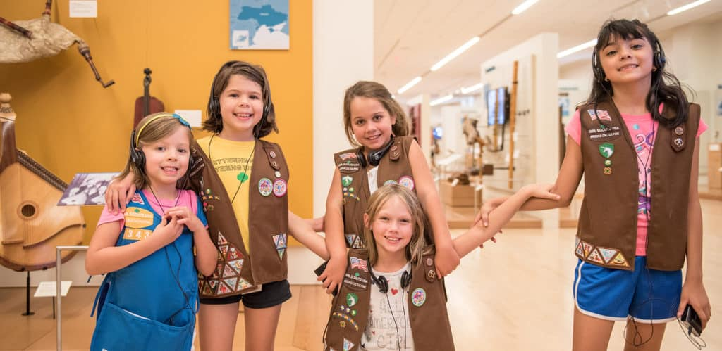Image of Girl Scouts at MIM
